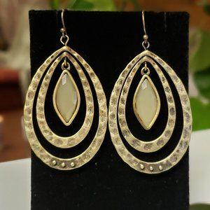 Vintage Hammered brass Gypsy earrings